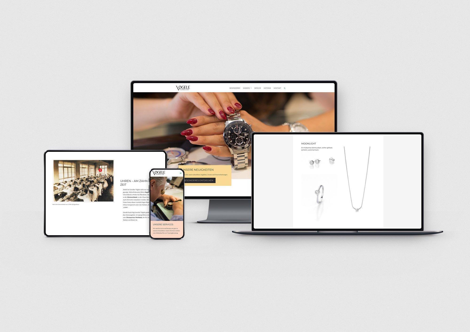 Webdesign auf verschiedenen Bildschirmgrößen